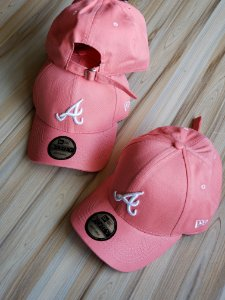 Cap New Era Atlanta Braves Rose Strapback Aba Curva