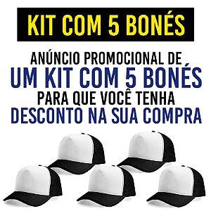 Kit Promocional com 5 Bonés