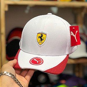 Cap Puma Scuderia Ferrari White Red Aba Curva