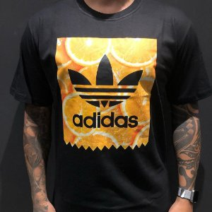 Camiseta Manga Curta Adidas Orange Black