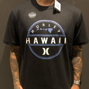 Camiseta Manga Curta Hurley Hawaii Black