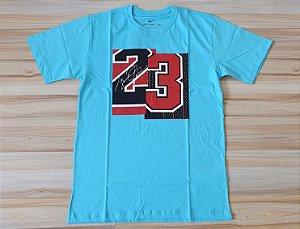 Camiseta Manga Curta Jordan Brand 23 Blue Sky
