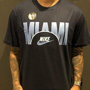 Camiseta Manga Curta Nike Miami Navy