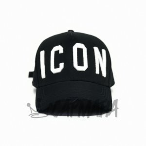 Cap Dsquared2 Icon Black White Strapback Aba Curva
