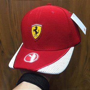 Cap Puma Scuderia Ferrari Red White Aba Curva