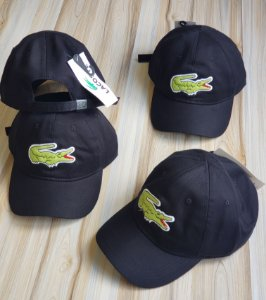 Cap Lacoste Big Croc Classic Black Strapback Aba Curva