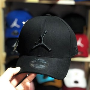 Cap Jordan Brand Jumpman All Black Strapback Aba Curva