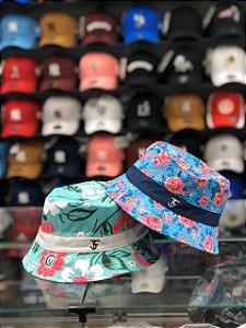 Bucket Hat Três Efes Floral Blue