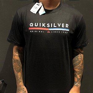 Camiseta Manga Curta Quiksilver Original Lines Black