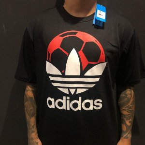 Camiseta Manga Curta Adidas Soccer Black