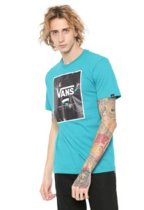 Camiseta Manga Curta Vans Print Box Floral Green Water