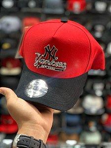 Cap New Era New York Yankees Script Red Strapback Aba Curva