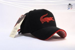Cap Lacoste Script Croc Black Strapback Aba Curva
