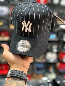 Cap New Era New York Yankees Stripes Black Strapback Aba Curva