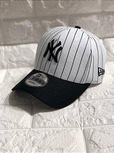 Cap New Era New York Yankees Stripes White Strapback Aba Curva