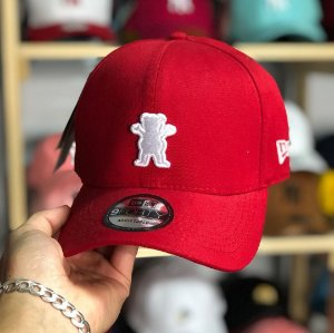 Cap Grizzly Griptape OG Bear Red Strapback Aba Curva