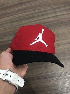 Cap Jordan Brand Jumpman Red Black Snapback Aba Curva
