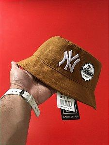 Bucket Hat New Era New York Yankees Caramel White