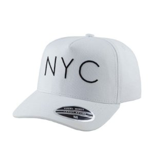 Cap Young Money New York City White Snapback Aba Curva