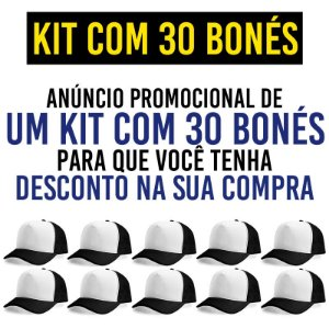 Kit Promocional com 30 Bonés