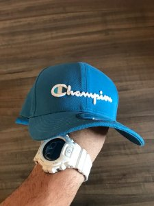 Cap Champion Class Light Blue Strapback Aba Curva