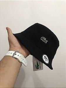 Bucket Hat Lacoste Classic Croc Black