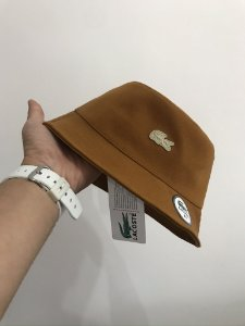Bucket Hat Lacoste Classic Croc Caramel