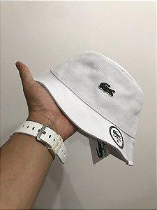 Bucket Hat Lacoste Classic Croc White