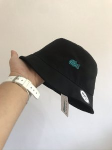 Bucket Hat Lacoste Croc Black Green