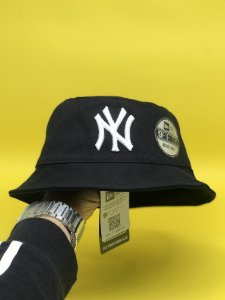 Bucket Hat New Era New York Yankees Black White