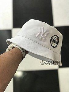 Bucket Hat New Era New York Yankees All White
