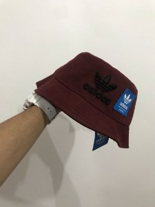 Bucket Hat Adidas Brand Wine Black