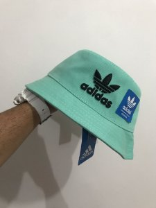 Bucket Hat Adidas Brand Light Green Black