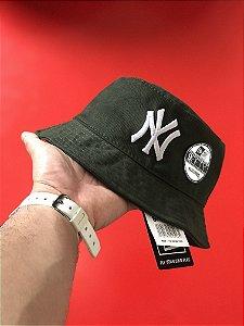 Bucket Hat New Era New York Yankees Dark Green White