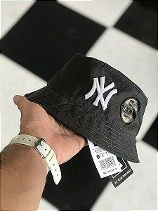 Bucket Hat New Era New York Yankees Dark Grey White