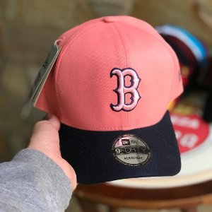 Cap New Era Boston Red Sox Rose Navy Strapback Aba Curva