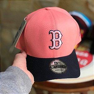 Cap New Era Boston Red Sox Rose Navy Strapback Aba Curva