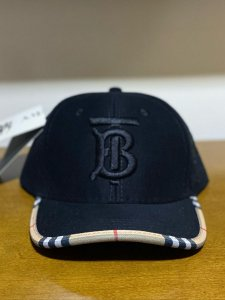 Cap Burberry Brand Black Strapback Aba Curva