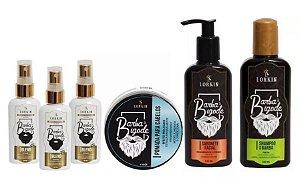 Kit 03 Blend Extreme Lorkin 50ml + Shampoo Barba e Bigode Lorkin 140ml + Sabonete Facial Lorkin 140ml Regenerador Cutâneo + Pomada Modeladora para Cabelos Lorkin 140ml