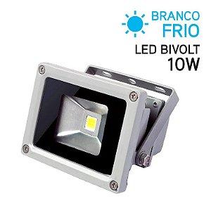 Projetor LED 10W Bivolt IP 65 Branco Frio