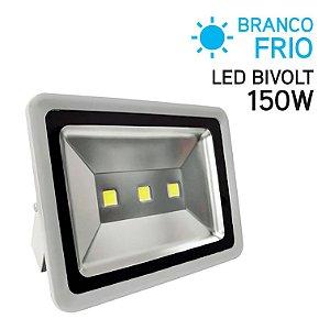Projetor LED 150W Bivolt IP 65 Branco Frio