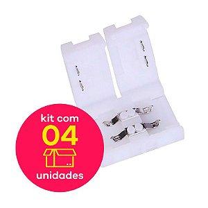 Conector Emenda s/ Cabo Fita LED Single Color 3528 Kit