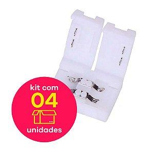 Conector Emenda s/ Cabo Fita LED Single Color 5050 Kit 4 pçs