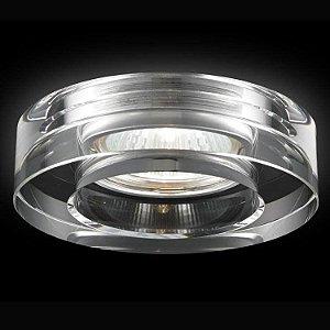 Spot Módulo de Embutir Cristal 1 GU10 SE007/1.10 +Luz