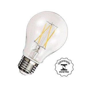 Lâmpada Bulbo LED Filamento A60 4W 2700K Luminatti