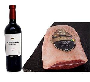 Kit - Picanha Angus + 01 Vinho Hereford Reserve