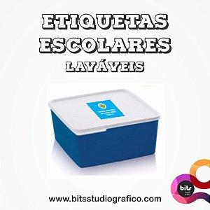 Etiquetas Laváveis - 06 unid - 5x5cm