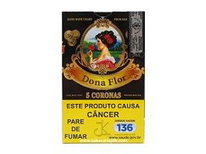 Charuto Dona Flor Corona Capa Escura C/5