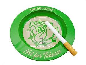 Cinzeiro Para Cigarro The Bulldog Lata Cor Verde