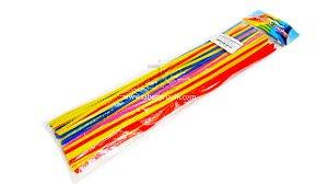 Limpador de cachimbo (escovilhão) Rainbow sortido c/50 (30cm)